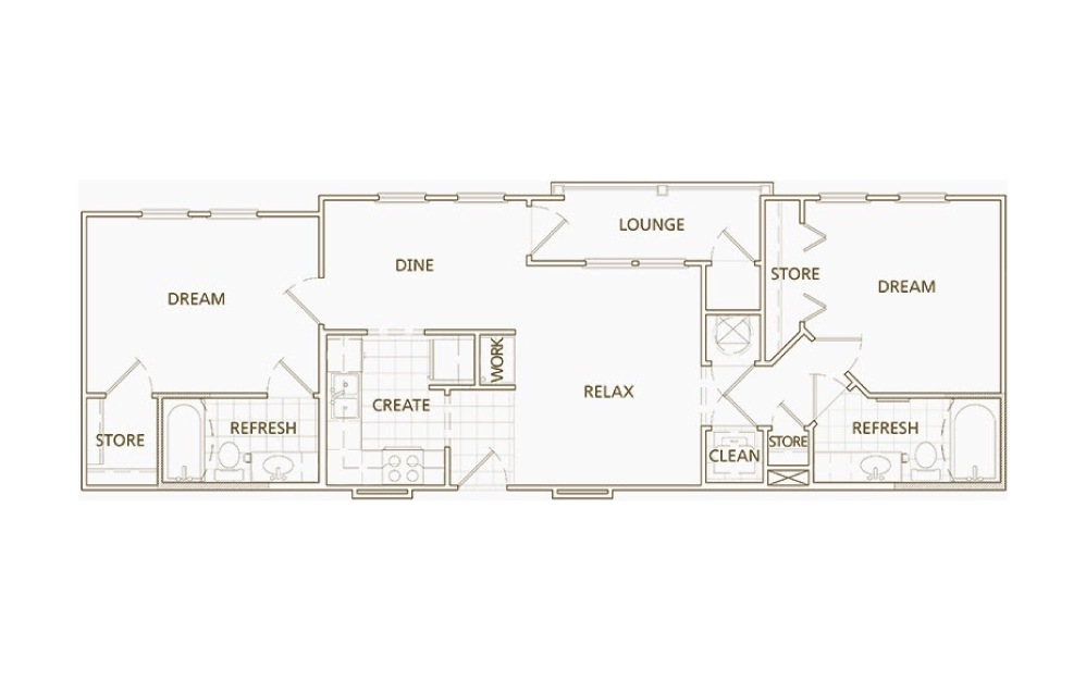 2 bedroom 2 bath 1016 sq.ft.