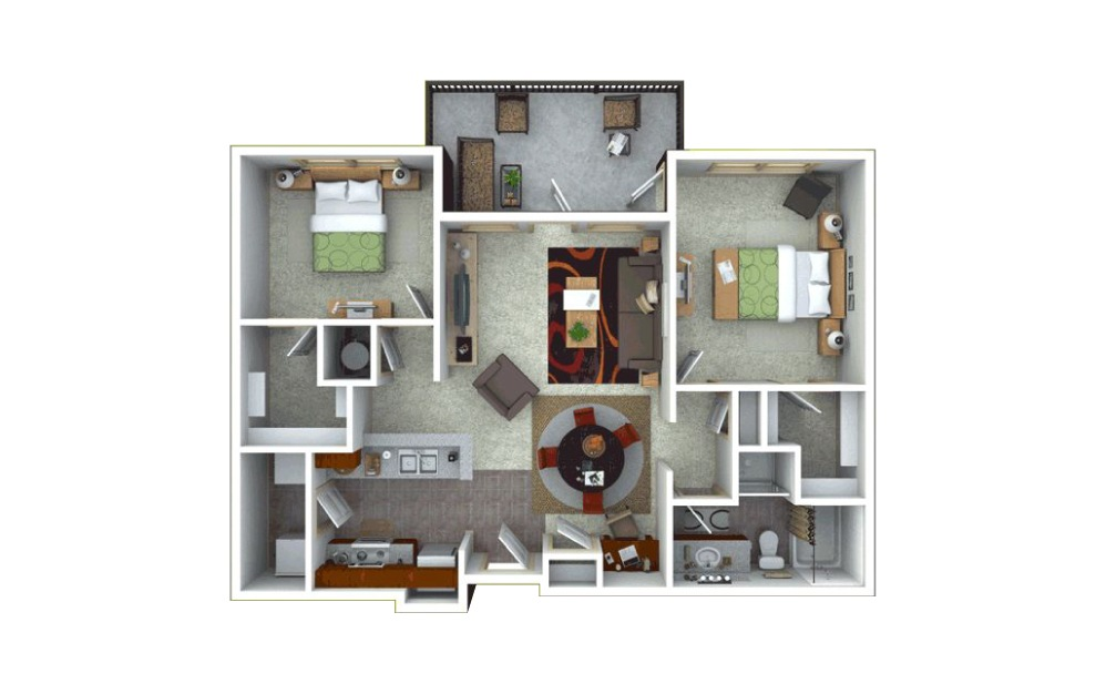 2 bedroom 1 bath 1115 sq.ft.