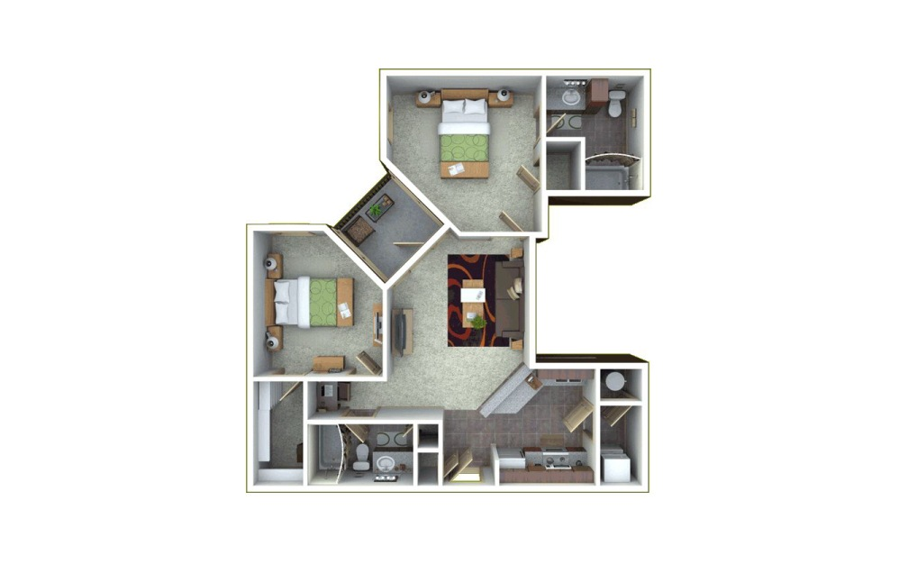 ENSO 2 bedroom 2 bath 1060 square feet